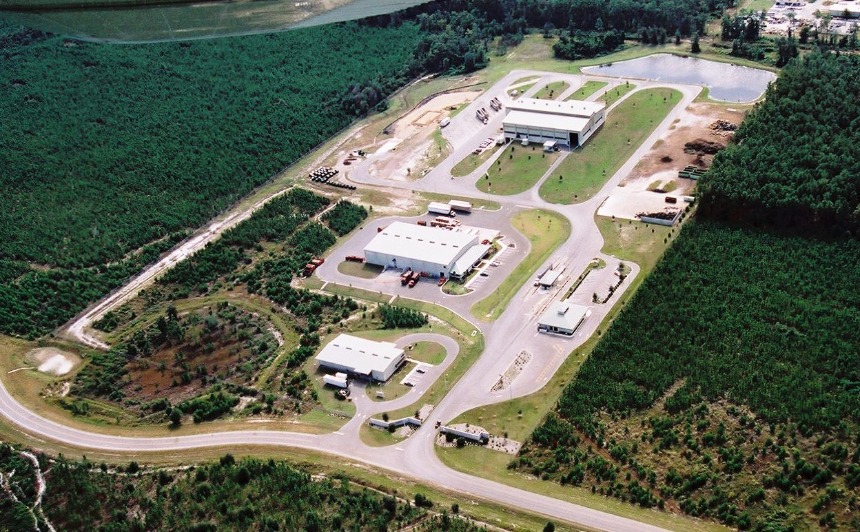 Aerial photo of the Leveda Brown Environmental Park.